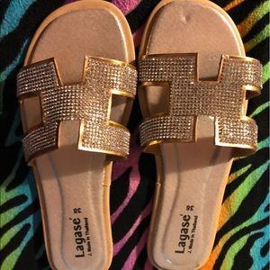 💎Rhinestone sandals 💎NWOT 👡