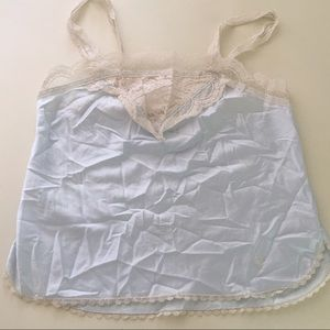 Vintage Christian Dior Cami Lace Silky Blue M