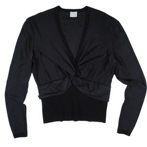 TSE Tops - TSE Black Cross Front Top Shirt