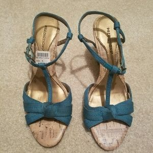 Shoes - Turquoise heels sandals - size 5
