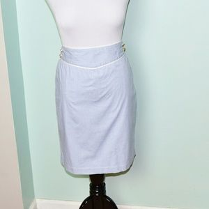 Vineyard Vines Dresses & Skirts - Vinyard Vines Light Blue & White Striped Skirt