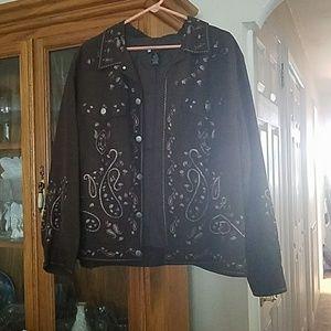 Carole Little Jackets & Blazers - Embrodiered Light Jacket