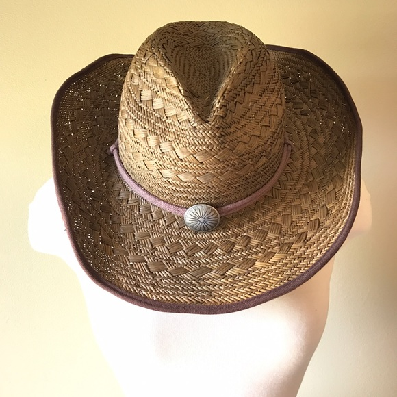 DPC Accessories - DPC Woven Straw Cowboy Cowgirl Western Hat 58b1b27aa7d
