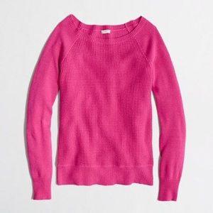 JCREW Pink Warmspun Waffle Crewneck Sweater