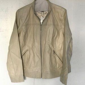 Bradley Bayou  (XL) Cream Soft Leather Jacket