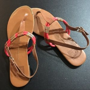 Dolce Vita Shoes - Dolce Vita Tan & Pink Sandals
