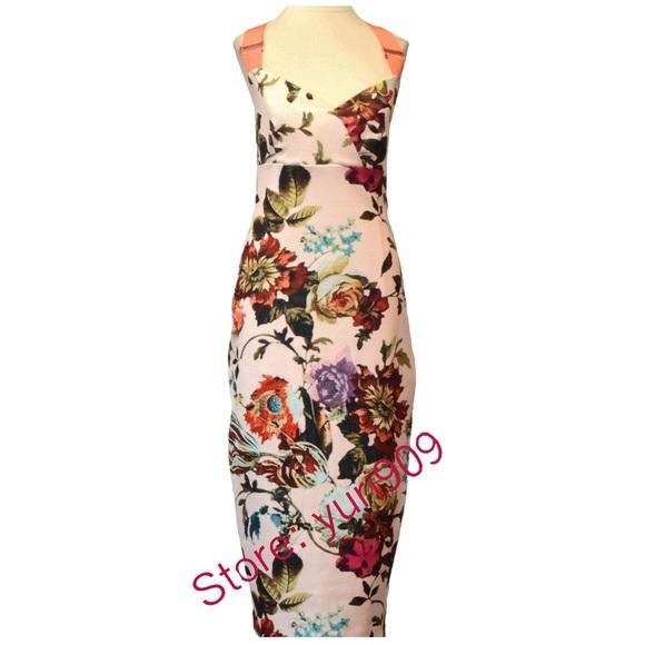 1ff9734a36ec6f Ted Baker Natural Amabel Floral Strap Size 2(US 6)