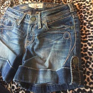 J & Company Pants - J & Company Western Cuffed jean shorts