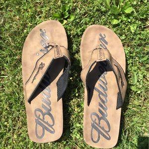 Budweiser Other - Budweiser Mens Flip Flops Sandals Size 12