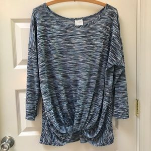 Anthropologie Tops - Anthropologie Sunday Blue Heathered Twist Top