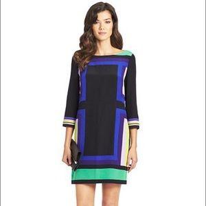 Diane von Furstenberg Dresses & Skirts - DVF Avery Geometric Print Colorblock Dress