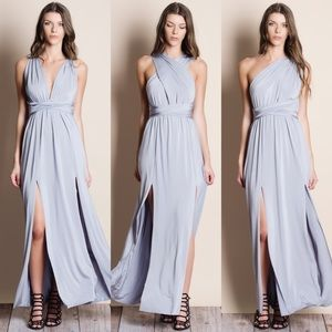 Multiwear Silver Maxi Dress