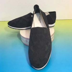 Coach Shoes - Coach Marvis Signature Flats, slip ons sneakers