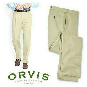 Orvis Other - NWOT Orvis Pleated Khaki Pants 42X30