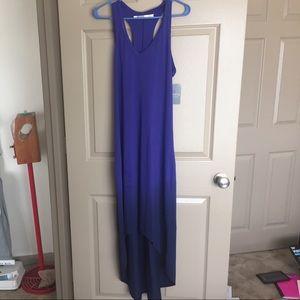 Athleta maxi high lo dress royal blue medium