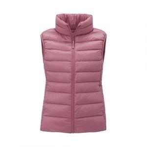 Uniqlo Pink Down Puffer Vest