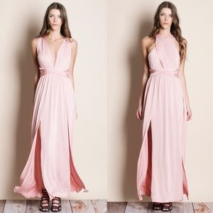 Multiwear Multiway Pink Maxi Dress