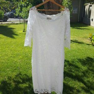 Igigi Dresses & Skirts - White Lace 3/4 Sleeve Dress
