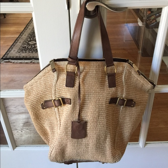 Yves Saint Laurent Bags Authentic Ysl Straw And Leather