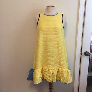 Victoria Beckham Dresses & Skirts - Yellow ruffle dress Victoria Beckham