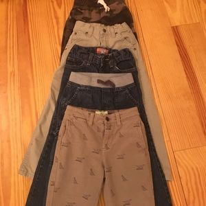 5 pair of boys pants size 5 (one pair 5T)