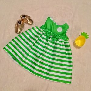 Rare Editions Other - Green and White Infant Girl Party Dress Sz 12m