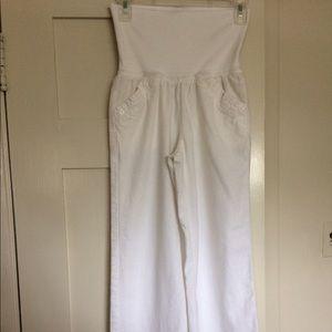 Xhileration Denim - Xhilaration white pants with high knit waist