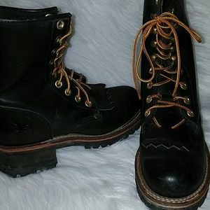 Georgia Boot Shoes - Steel Toe Leather Work Boot, Motorcycle Boot