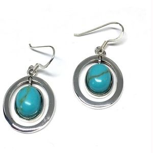 Jewelry - Sterling Silver Turquoise Dangle