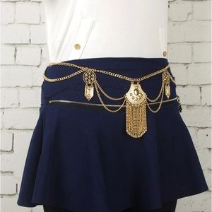 Curvy Couture Accessories - Boho Style Festival Ready Chain Belt Gold NWT