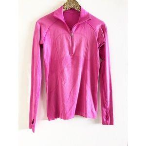 lululemon athletica Tops - Lululemon Half Zip Swiftly Magenta Pink Pullover