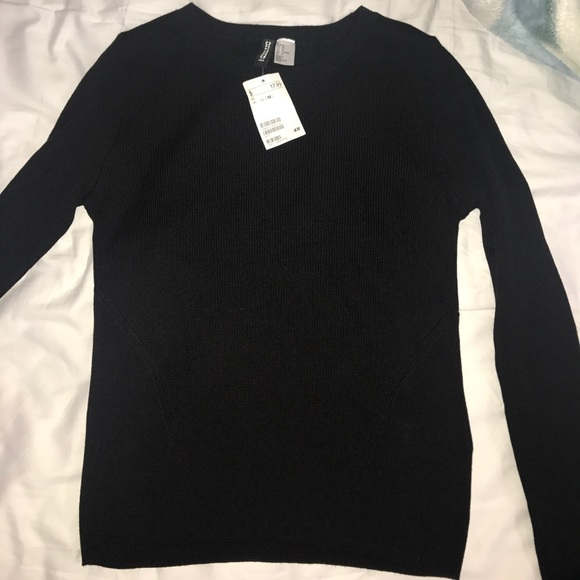e51ca11d24 NWT H m divided ribbed long sleeve top