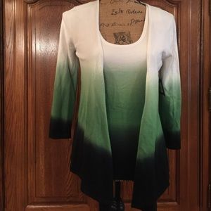 Reba Tops - NWT Reba Rainforest Cardigan and Shell Set