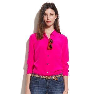 NWOT Madewell Soft Silk Shirt