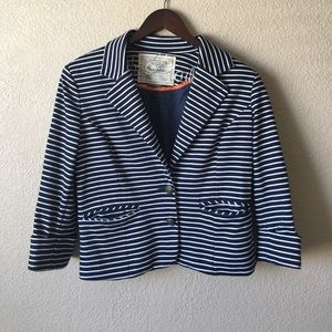 Anthropologie Cartonnier En Route Stripe Blazer