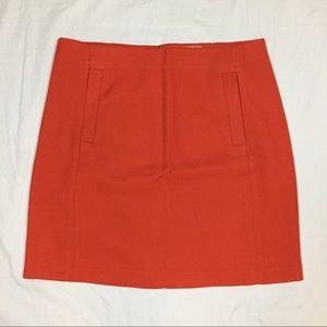 Banana Republic Dresses & Skirts - Banana Republic orange mini skirt size 6