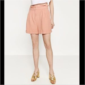 Zara Pants - High Waisted Pleated Shorts