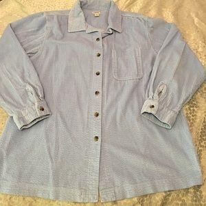 LL Bean Button Up Corduroy Shirt