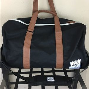 Herschel Supply Company Handbags - Herschel novel black tan leather gym duffel bag