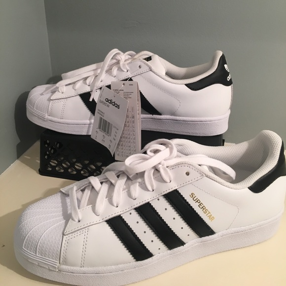 SALE NWT White and Black Adidas Superstar Size 9