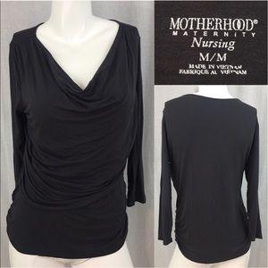 Motherhood Tops - ⭐️Sz Medium Motherhood Gray 3/4 Sleeve Nursing Top