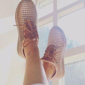 SALE!!! Rose Gold Flyknit Sneakers
