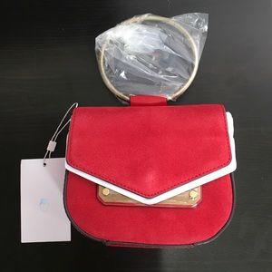 967🐰💛 Nasty Gal red suede mini purse