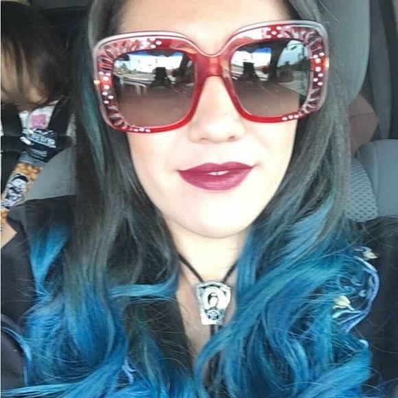 6a235d4722b54 Gucci Accessories - GUCCI Oversized square frame rhinestone sunglasses