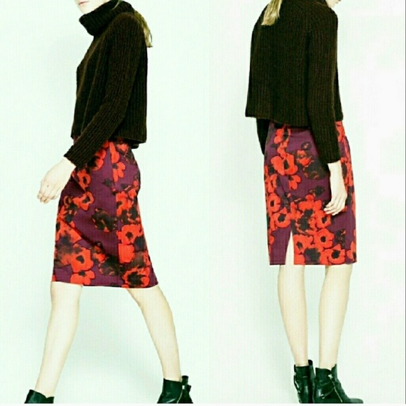 44 zara dresses skirts zara floral pencil skirt