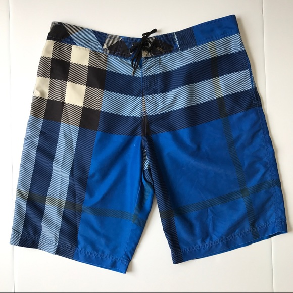 12b4219454 Burberry Other - Burberry Brit Swim Trunks Blue Black Check Men XL