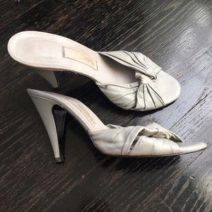 Reformation Shoes - vintage leather mule heels