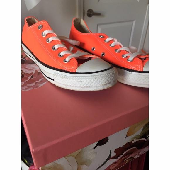 0b23d677d5eb Converse Shoes - Neon coral Converse All Star Chucks low rise