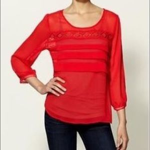Tinley Road red sheet blouse