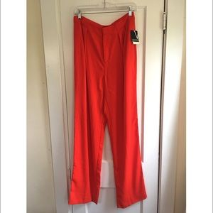 *NWT* Valette High Waist Pleated Pants - Fiery Red
